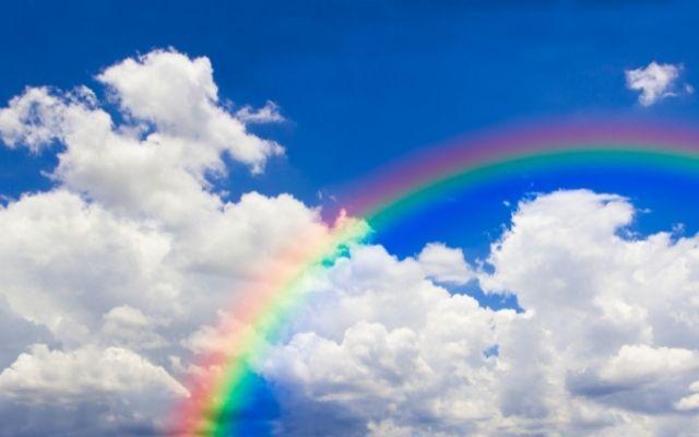 虹のLINE背景で別れさせる